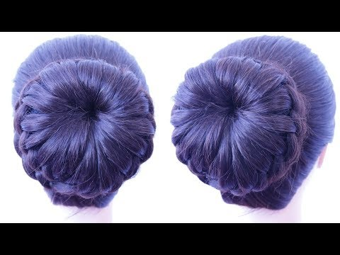 Hairstyles for short hair - easy and elegant juda tutorial  wedding guest hairstyle  chignon hairstyle  party hairstyle