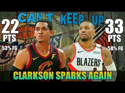 Clarkson Nagliyab Muli, Cavs Sinagasaan ng Blazers | Clarkson vs Lillard Full Duel Highlights