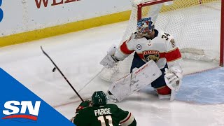Reimer Kicks Puck Into Net After Bad Bounce Off End Boards by Sportsnet Canada