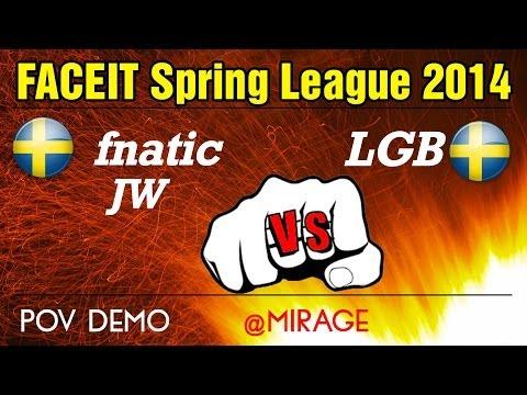 Fnatic JW vs LGB (POV) @mirage \\\\ FACEIT Spring League 2014