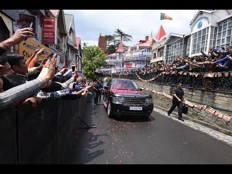 PM Modi's public reception and speech in Shimla, Himachal Pradesh