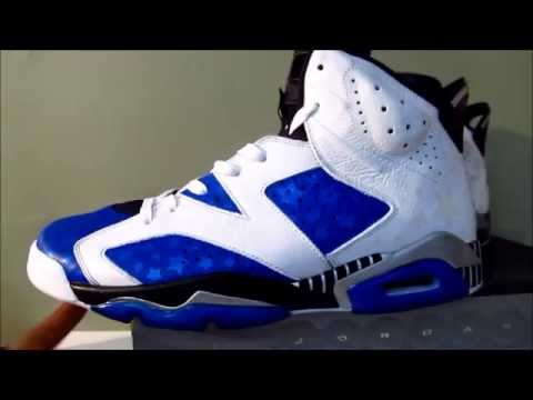 0 Air Jordan VI Orlando Magic Customs for Gilbert Arenas
