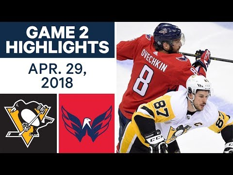 Video: NHL Highlights | Penguins vs. Capitals, Game 2 - Apr. 29, 2018