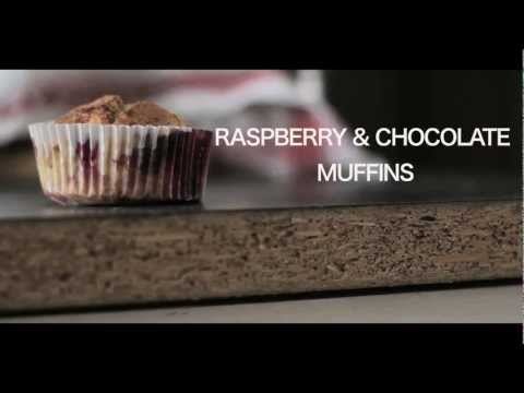I Love Baking! : Raspberry & Chocolate Muffins