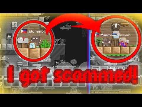 This hacker/lagger scammed me! I Dropped 600 World Locks! | Growtopia (видео)