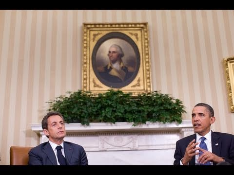President Obama Meets with President Sarkozy