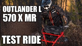 4. TEST RIDE: 2016 Can-Am Outlander L 570 X mr