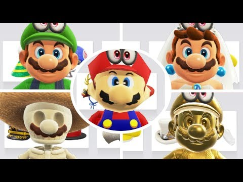 Super Mario Odyssey - All Costumes & Hats