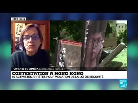 Contestation à Hong Kong : 50 activistes arrêtés pour violation de la loi de sécurité