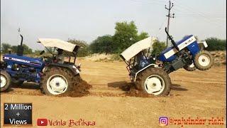 Swaraj 744 vs Faramtrac 60 Tractor Tochan |New Punjab Tractor Tochan 2018