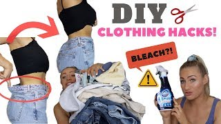 Video TESTING DIY CLOTHING HACKS | FOR CUTE CLOTHES & THE PERFECT FIT! MP3, 3GP, MP4, WEBM, AVI, FLV Agustus 2019