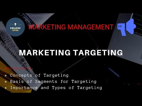 Marketing Targeting | STP Concept | Marketing Management | BBA/B.com | Study at Home with me