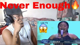 Download Video 🔥REACTION!🔥MARIA - NEVER ENOUGH (Loren Allred) Indonesian Idol 2018 MP3 3GP MP4