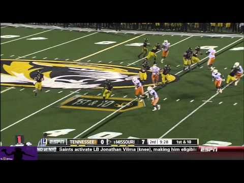 Maty Mauk vs Tennessee 2013 video.