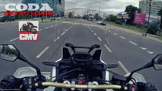 5. CRF1000L Africa Twin ABS DCT vs city (daily traffic) + stock exhaust sound - test drive - CMV
