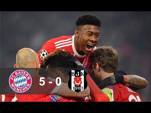 Bayern vs Besiktas 5 - 0 All Goals & Highlights - 20/02/2018 HD