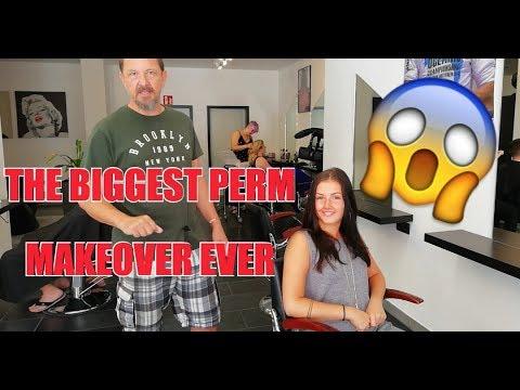 Hairdresser - PERM DAUERWELLE THE BIGGEST MAKEOVER EVER!  VORHER NACHHER BY JOERG MENGEL FRISEURE