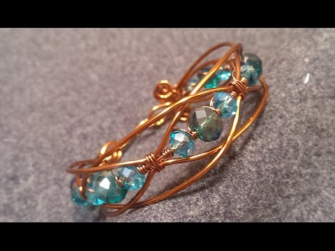 How to make wire bracelet - handcrafted copper jewelry 106