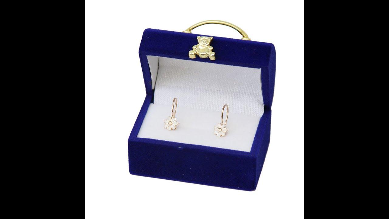 5mm CZ Solitaire Children's Earrings. 585 (14kt) Rose Gold. Video Thumbnail