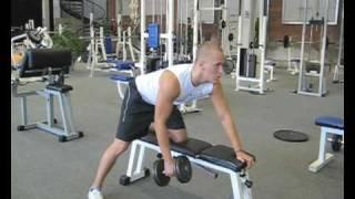 Videoanleitung zu Rudern mit einer Kurzhantel. Diese Übung trainiert insbesondere die Rückenmuskulatur. Weitere Übungen...
