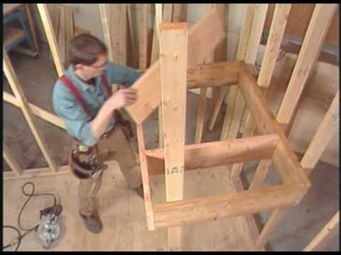 Видео строительство лестниц часть 1