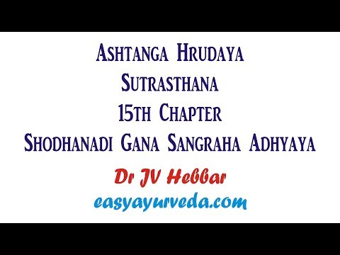 Video Ashtanga Hrudaya Sutrasthana 15th Chapter Shloka Recitation download in MP3, 3GP, MP4, WEBM, AVI, FLV January 2017
