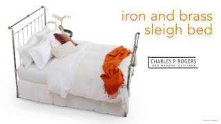 Iron & Brass Sleigh Bed video