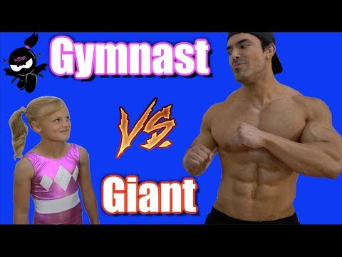Gymnast vs Giant! Who is Stronger, Payton or the bodybuilder? (видео)