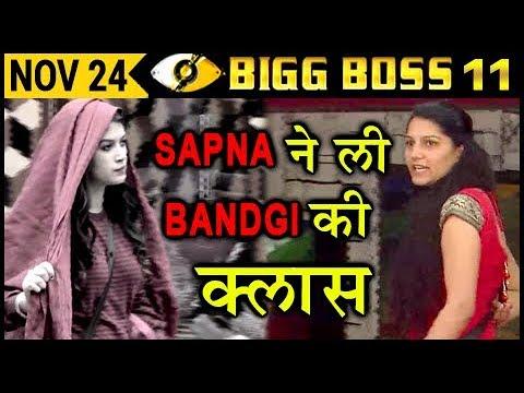 Sapna BASHES Bandgi For SLEEPING With Puneesh | Bi