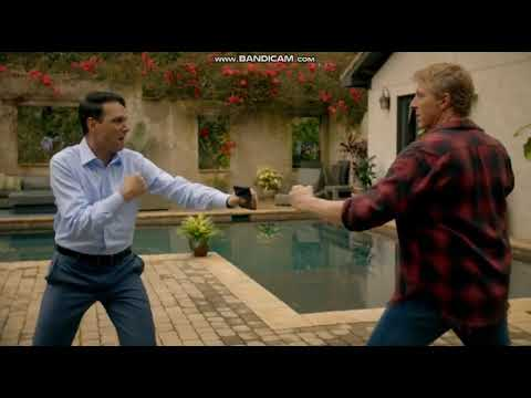 Cobra Kai - Hysterical Johnny and Daniel Scene
