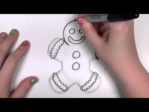 How to Draw a Cartoon Gingerbread Man | CC