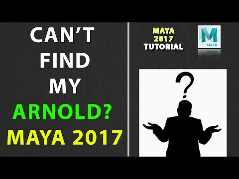 Can't Find My ARNOLD in Maya 2017