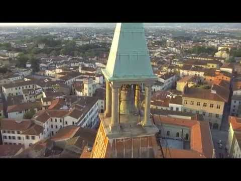 riprese magnifiche di pistoia vista dall'alto con un drone