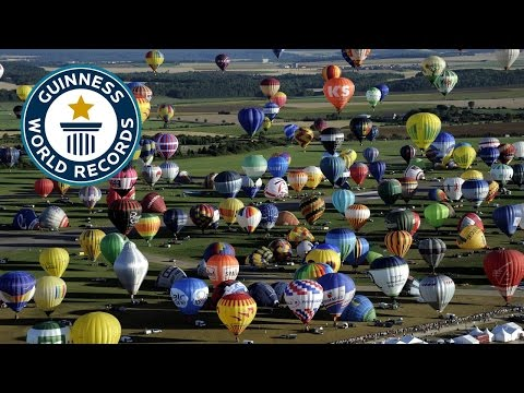 Most Hot Air Balloons In Flight