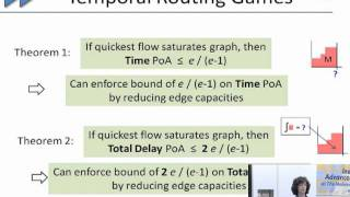 Competitive Strategies for Routing Flow Over Time - Lisa Fleischer