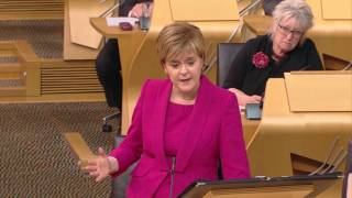 1. Ruth Davidson: To ask the First Minister what engagements she has planned for the rest ofthe day. (S5F-01442)2. Kezia Dugdale: To ask the First Minister what engagements she has planned for the rest of theweek. (S5F-01438)3. Patrick Harvie: To ask the First Minister when the Cabinet will next meet. (S5F-01443)4. Willie Rennie: To ask the First Minister what issues will be discussed at the next meeting of theCabinet. (S5F-01463)5. John Mason: To ask the First Minister what action the Scottish Government is taking to closethe gender pay gap. (S5F-01453)6. Finlay Carson: To ask the First Minister whether the Scottish Government will meet the 30June deadline for the processing of 2016 CAP payments. (S5F-01451)Published by the Scottish Parliament Corporate Body.www.parliament.scot  //  We do not facilitate discussions on our YouTube page but encourage you to share and comment on our videos on your own channels.  //  If you would like to join in our conversations please follow @ScotParl on Twitter or like us on Facebook at www.facebook.com/scottishparliament