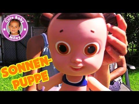 SONNENPUPPE NIVEA SUN | Lotte bekommt Sonnenbrand | CuteBabyMiley