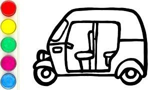 Auto Rickshaw Warna Warni Belajar Menggambar dan Mewarnai untuk Anak