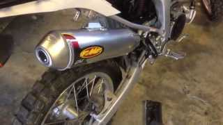 10. 2014 Yamaha WR250R stock and aftermarket exhaust