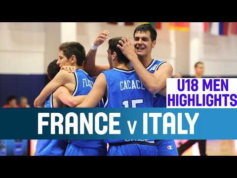 France - Federico Mussini has the hot hand from outside to help Italy past France in the Second Round of the U18 European Championship. Please subscribe to our YouTube channel (http://www.youtube.com/user/...
