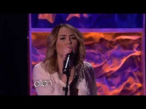 Miley Cyrus performs