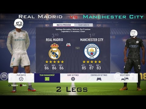 Real Madrid Vs Manchester City 2018 - FIFA 18 PC Gameplay Origin