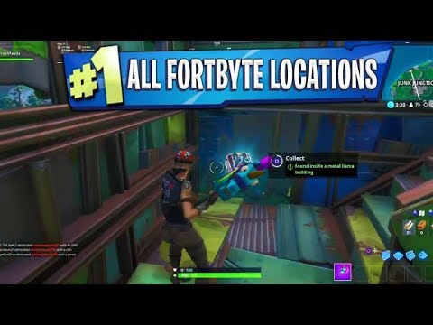 All Fortbyte Locations! 1-100 FORTBYTE Unfound Rewards! -Fortnite Battle Royale