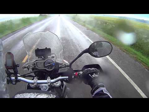 Motorcycle ride in the rain - Triumph Tiger 800XC