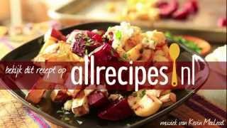Warme salade van geroosterde groenten