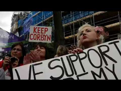 Alan Simpson ex-MP for Nttm South at Pro-Corbyn Rally (видео)