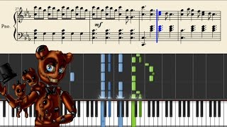 DAGames - Break My Mind (FIVE NIGHTS AT FREDDY'S 4 SONG) - Piano Tutorial