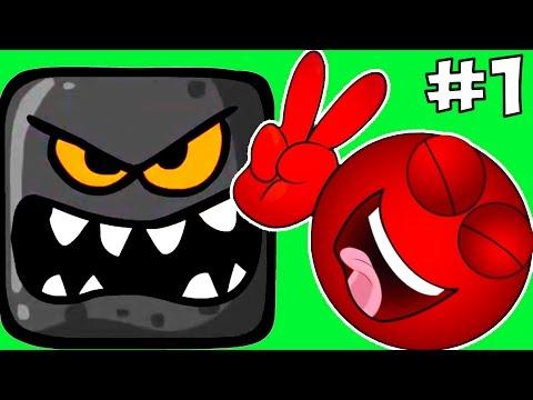 Прохождение Игры Красный Шарик Против Черного Квадрата.Red Ball 4 Зеленые Холмы.Детские ИГРЫ (видео)
