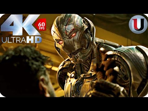 The Avengers vs Ultron First Fight Scene - Avengers Age Of Ultron MOVIE CLIP (4K HD)