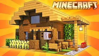 Minecraft : STARTER HOUSE TUTORIAL|How to Build a Small House in Minecraft